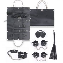 Грас. Набор для БДСМ игр BDSM-NEW PVC Bondage Set, black