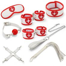 Грас. Набор для БДСМ игр BDSM-NEW PVC Nurse Bondage Set, whi...