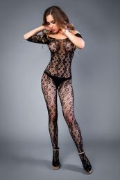 Грас. Сетка Bodystocking in crochet look with floral pattern...