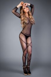 Грас. Сетка Bodystocking in a network optic chain pattern bl...